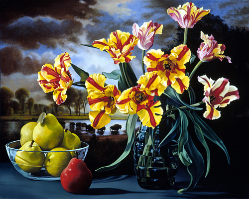Parrot Tulips After Bierstadt