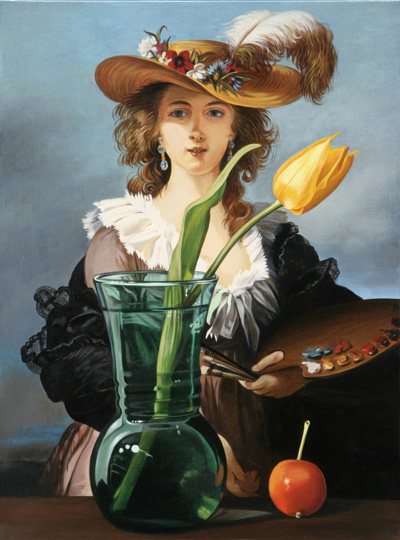 Yellow Tulip with Vigee-Le Brun