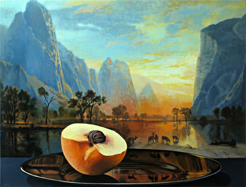 Peach Half with Valley of Yosemite