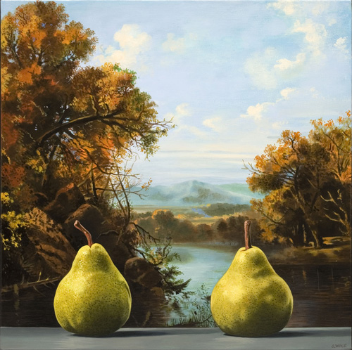 Two Pears with Indian Summer