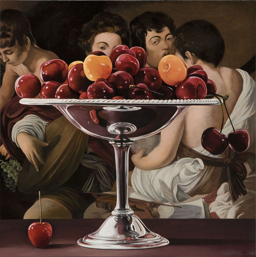 Bowl of Cherries with Musicians