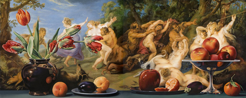 Still Life with Diana and her Nymphs Surprised by Satyrs