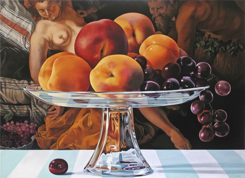 Still Life of Fruit with Jupiter and Antiope