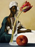 Tulip and Peach with Portrait of Lady